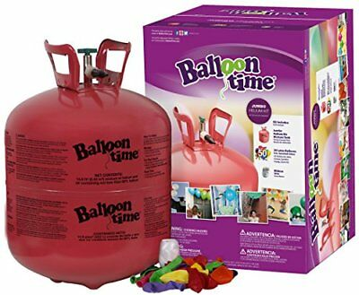 Balloon Time Disposable Helium Tank 14.9 cu.ft 50 Balloons +Ribbon FREE SHIPPING