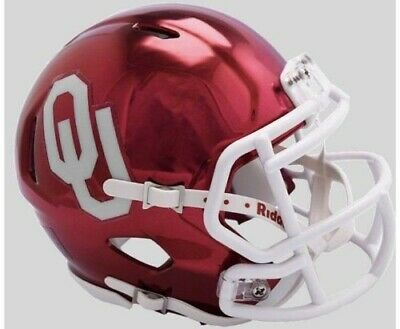 - Oklahoma Sooners 2018 Alternate Chrome NCAA Riddell Speed Mini Helmet