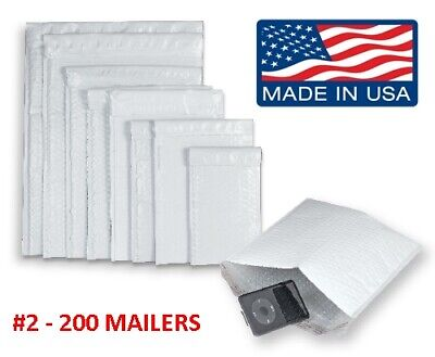 200 2 8.5x12 Poly Bubble Mailers Padded Envelopes Shipping Case - Free Ship
