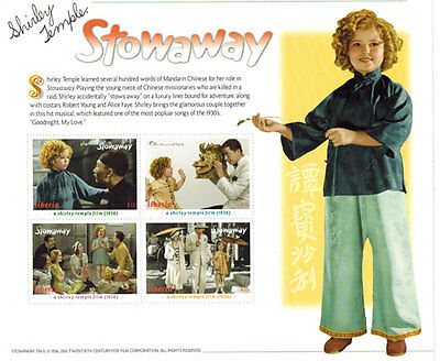 """SHIRLEY TEMPLE  """"The stowaway"""" collection, Postage Stamps-2 SHEETS & S/S"""