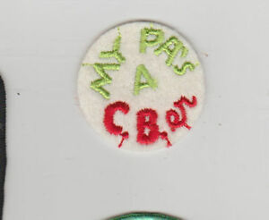 "Vintage 1970'S Embroidered Sew On ""MY PA'S A C.B.ER"" Patch"