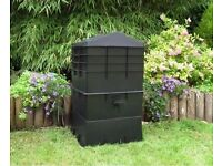 4 Tray 100 Litre Wormcity Wormery used for 6 month fully established