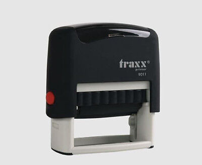 Custom Self Inking Rubber Stamp Traxx 9011  (Ideal 50 Size) USA SELLER