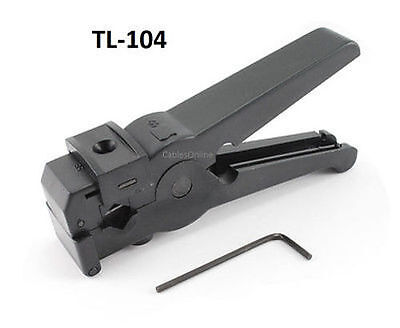 3-blade Precision Coax Cable Stripping Tool For Rg-6 Rg-58 Rg-59 And Rg-62