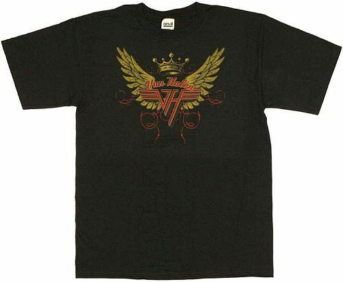 Van Halen Wings T-Shirt Black Cotton Officially Licensed 2XL New