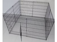 BUNNY BUSINESS 8 Panel Playpen Run for Rabbits / Guinea Pigs / Dogs / Cats / Puppy Medium - New