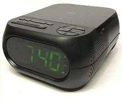 Onn CD/AM/FM Alarm Clock Radio with USB Port to Charge Devices + Aux-in Jack