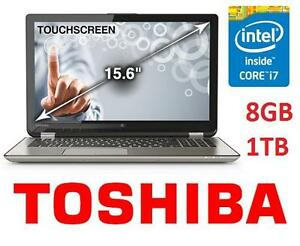 """REFURB TOSHIBA 15.6 TOUCH LAPTOP PC NOTEBOOK COMPUTER PC  15.6"""" TOUCHSCREEN I7 8GB - 1TB WIN 8.1 102428937"""
