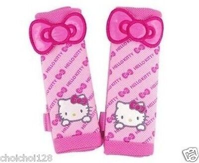 Hello Kitty Auto Car Seat Belt Cover One Pair Pink Bow KK221