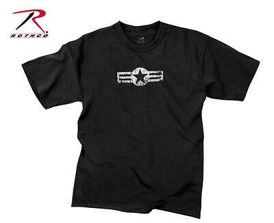 Rothco 66650 Black Vintage Air Corp Star Short Sleeved T-Shirt (Air Corp Star)