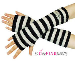 GORJUSS-WOOLLEN-STRIPY-ARM-WARMERS-BLACK-CREAM-20-ANGORA-70-WOOL-10-NYLON