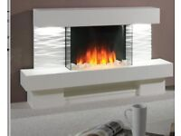Ultra modern electric fire and surround with LED lighting effects