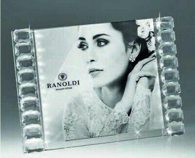 Photo Holder Crystal Swarovski Quality Made IN Italy Ranoldi Modern Wedding -