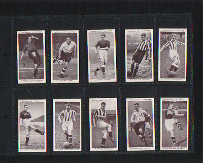 cigarette cards association footballers A footballers football 1938 full set