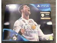 Brand new PS4, 500mb, black. + Controller+ proof of purchase +2 years warranty + 5 games.