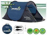 Peakland sonic 200 pop up tent