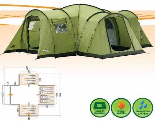 Vango Kasari 800 Tent, Footprint & Carpet