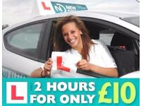 Driving Lessons in Worcester - First 2 hour lesson only £10