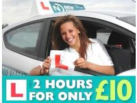 Driving Lessons Worthing - First 2 hour lesson only £10!