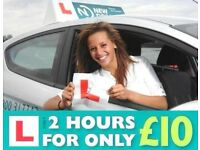 Driving Lessons in Honiton - First 2 hour lesson only £10