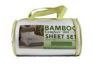 New Queen size bamboo bed sheets set