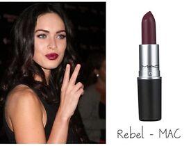 Authentic Mac Lipstick - Rebel