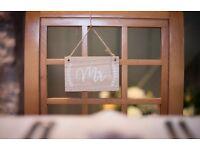 Hobbycraft Ginger Ray Boho Forever wedding MR & MRS chair signs