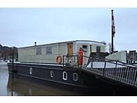 Houseboat for sale, five bedrooms, with mooring.
