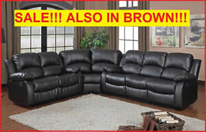 100% BONDED LEATHER SECTIONAL FOR ONLY $1699.99 @ YVONNE'S FURN