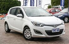 2014 Hyundai i20 PB MY14 Active White 4 Speed Automatic Hatchback Embleton Bayswater Area Preview
