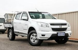 2013 Holden Colorado RG MY13 LX Crew Cab White 5 Speed Manual Cab Chassis Wangara Wanneroo Area Preview