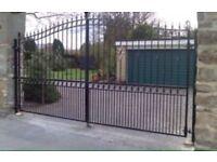 Custom driveway fencing