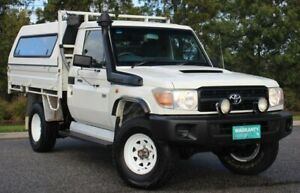 2009 Toyota Landcruiser VDJ79R MY10 Workmate White 5 Speed Manual Cab Chassis Officer Cardinia Area Preview