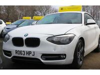 BMW 1 SERIES 1.6 114I SPORT 3d 101 BHP NEW SHAPE ONE OWNER (white) 2013