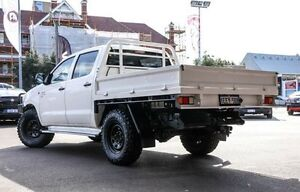 2012 Toyota Hilux KUN26R MY12 SR Double Cab White 5 Speed Manual Cab Chassis Northbridge Perth City Area Preview