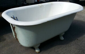 old cast iron porcelain tub