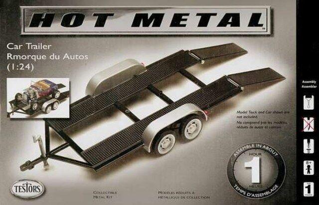 234 1/24 Tandem Car Trailer Metal TESS0234 TESTORS