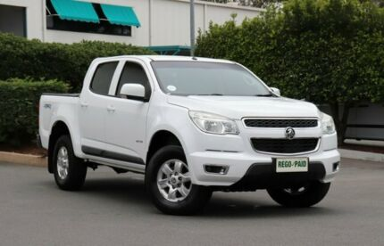 2013 Holden Colorado RG MY14 LT Crew Cab White 6 Speed Sports Automatic Utility Acacia Ridge Brisbane South West Preview