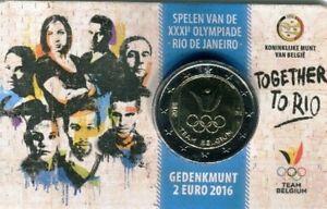 2-euro-Belgio-2016-coincard-034-XXXI-Giochi-Olimpici-Rio-de-Janeiro-034-vers-olandese
