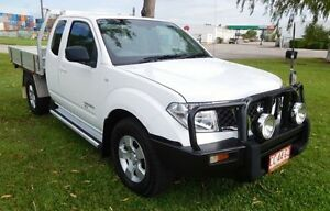 2009 Nissan Navara D40 RX King Cab White 5 Speed Automatic Cab Chassis Hidden Valley Darwin City Preview