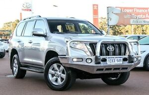 2014 Toyota Landcruiser Prado KDJ150R MY14 GXL Silver Pearl 5 Speed Sports Automatic Wagon Wangara Wanneroo Area Preview