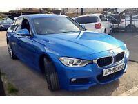 BMW 3 SERIES 3.0 330D XDRIVE M SPORT 4d AUTO 4X4 255 BHP ESTORI (blue) 2014