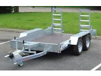 """NEW 3.5TON INDESPENSION 12' x 5'8"""" LOW LOADER PLANT TRAILER diggers rollers tractors"""