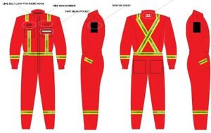 new FIRE Department FLAME RETARDANT reflective COVERALLS