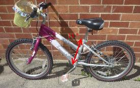 Girl's Small Raleigh Bike with Basket .. 6 gears