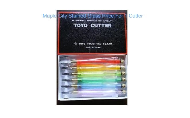 Stained Glass TOYO PENCIL STYLE ACRYLIC COMFORT GRIP GLASS CUTTER NEW - 1 CUTTER