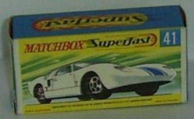 Spielzeugautos 41 Made in England gebraucht MATCHBOX Series Ford GT rot No