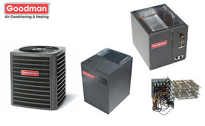 4 Ton Goodman 18 SEER 2 Stage Central System GSXC18048, MBVC2000, Coil, TXV