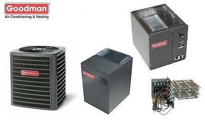 5 Ton Goodman 17 SEER 2 Stage Central GSXC180601, MBVC2000, Cased Coil, TXV