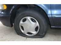 Flats Fixed Fast!. Tyre Mobile(Glasgow). Punctures. Tyre fitting.